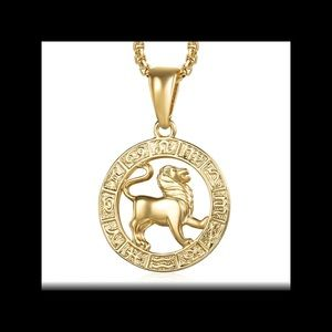 New 18k gold plated Leo necklace
